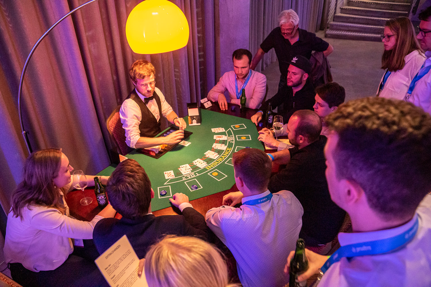 Casino auf der Get-Together-Party | prudsys retail intelligence summit | AI for Retail